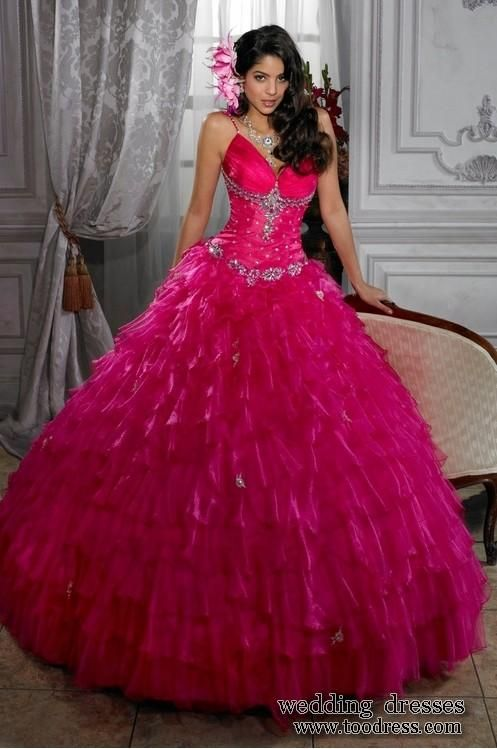 Hot pink wedding dresses in Women's Dresses Compare Prices