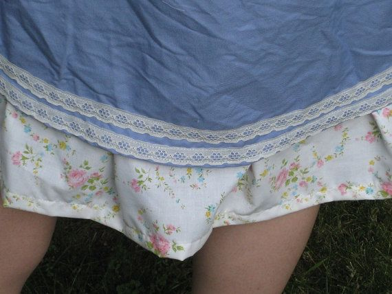 Blue Petticoat Style Skirt Elle Style by BigBeautifulBohemian