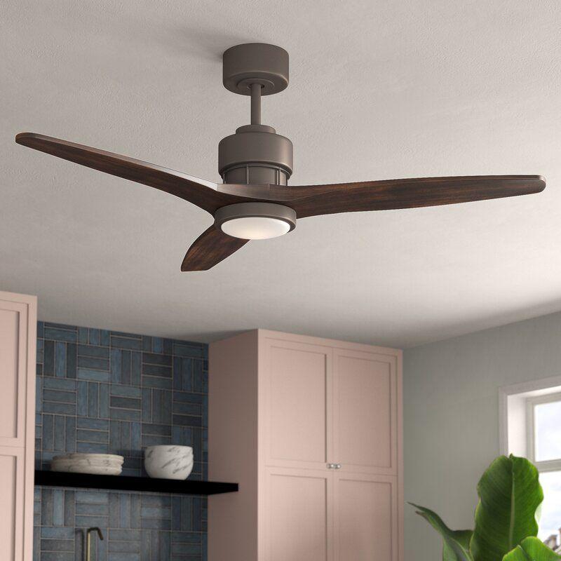 52 Mcdaniels 3 Blade Led Ceiling Fan With Remote Light Kit Included Ceiling Fan With Remote Led Ceiling Fan Ceiling Fan