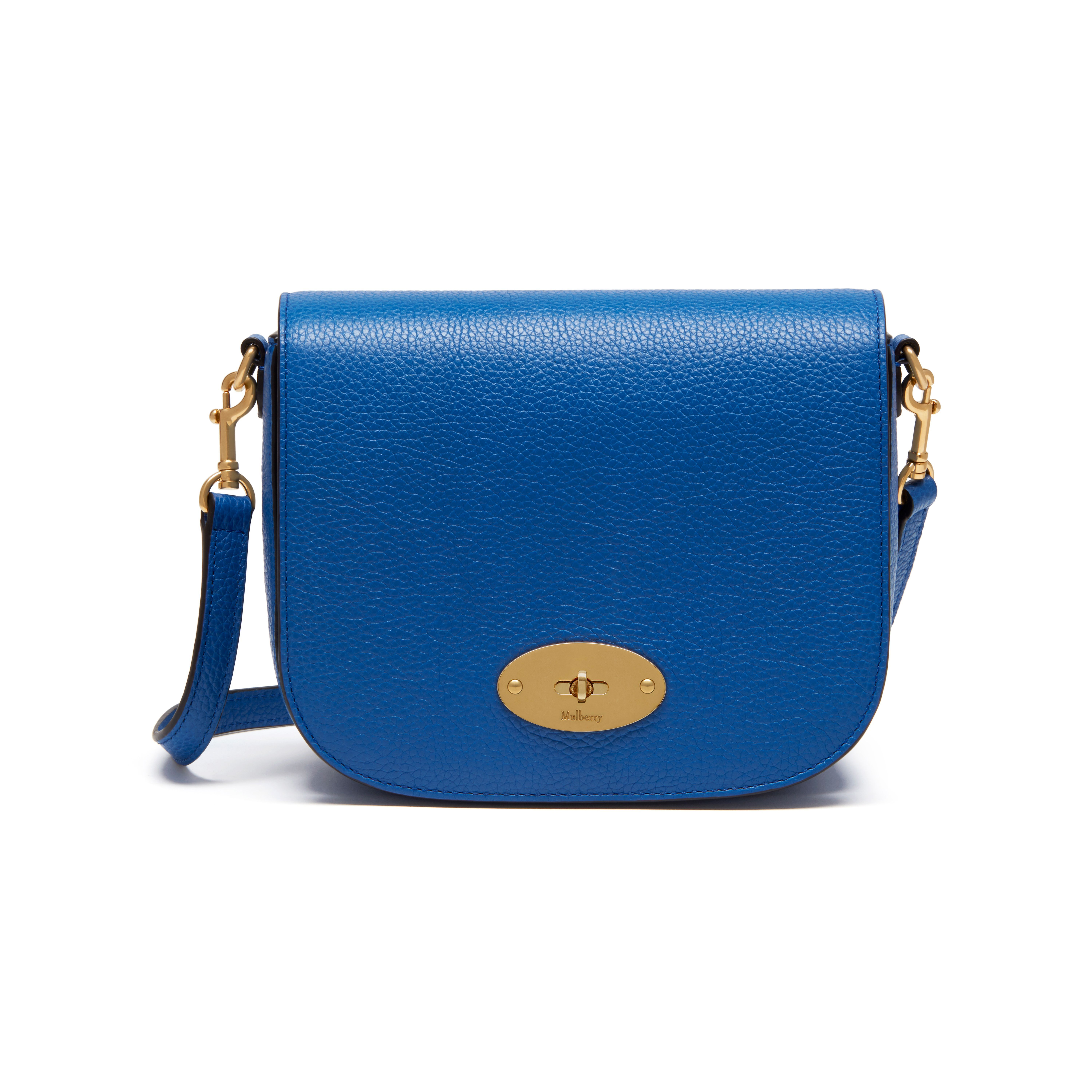 Mulberry - Small Darley Satchel in Porcelain Blue Small Classic Grain d46d51b2b361f