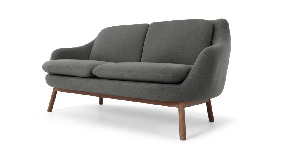 Oslo 2 Seater Sofa Marl Grey With Dark Stained Oak Legs Extension 3 Seater Sofa 2 Seater Sofa Sofa