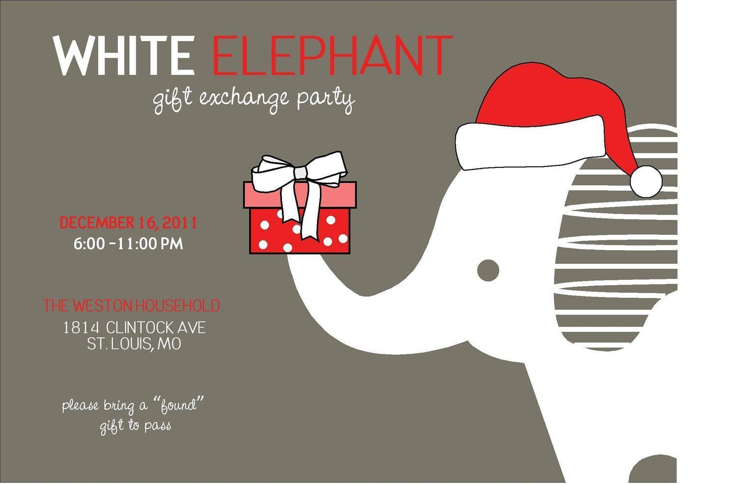White Elephant Christmas Party Invitations #schrottwichtelnideen White Elephant Christmas Party Invitations #schrottwichtelnideen White Elephant Christmas Party Invitations #schrottwichtelnideen White Elephant Christmas Party Invitations #schrottwichtelnideen