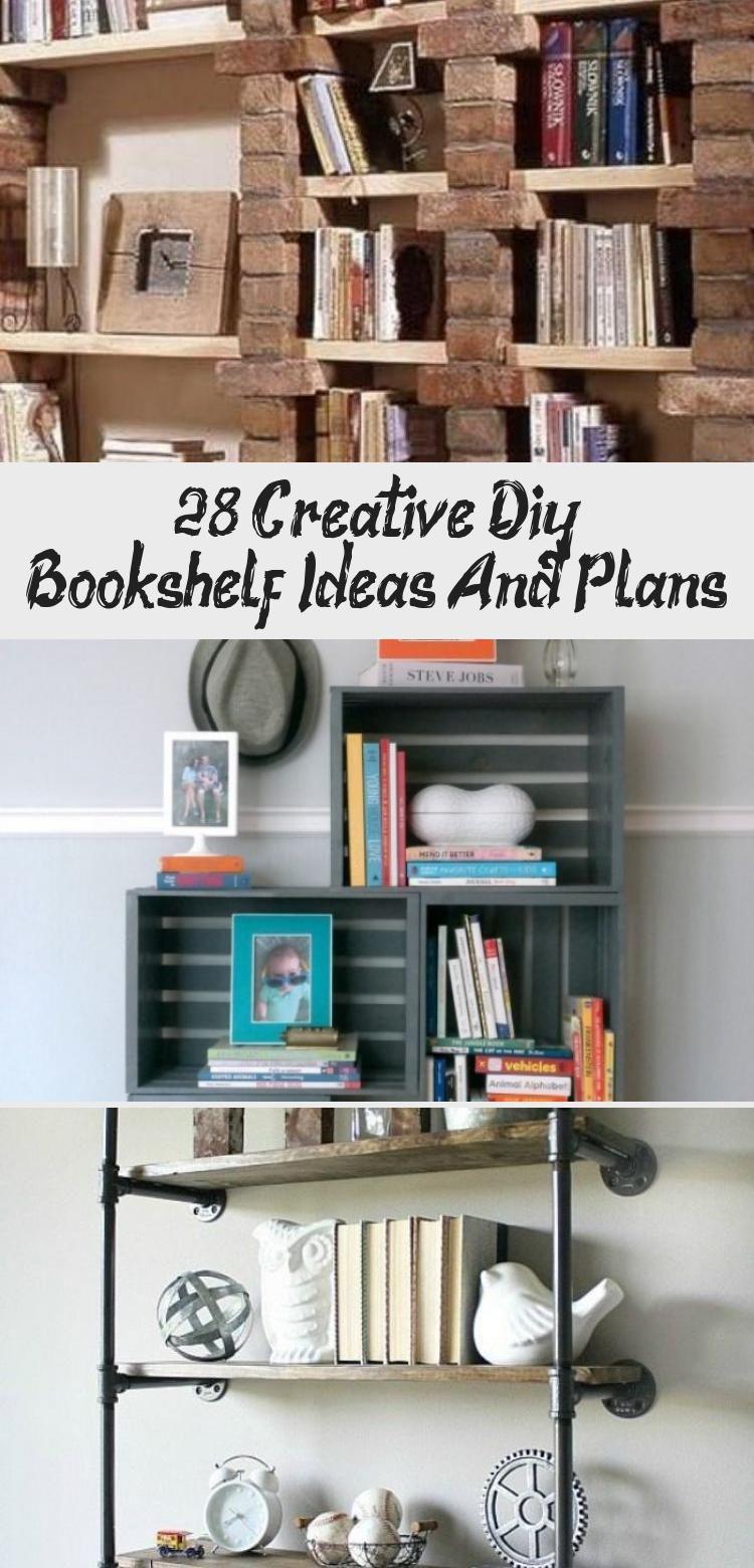 28+ Creative Diy Bookshelf Ideas And Plans in 2020