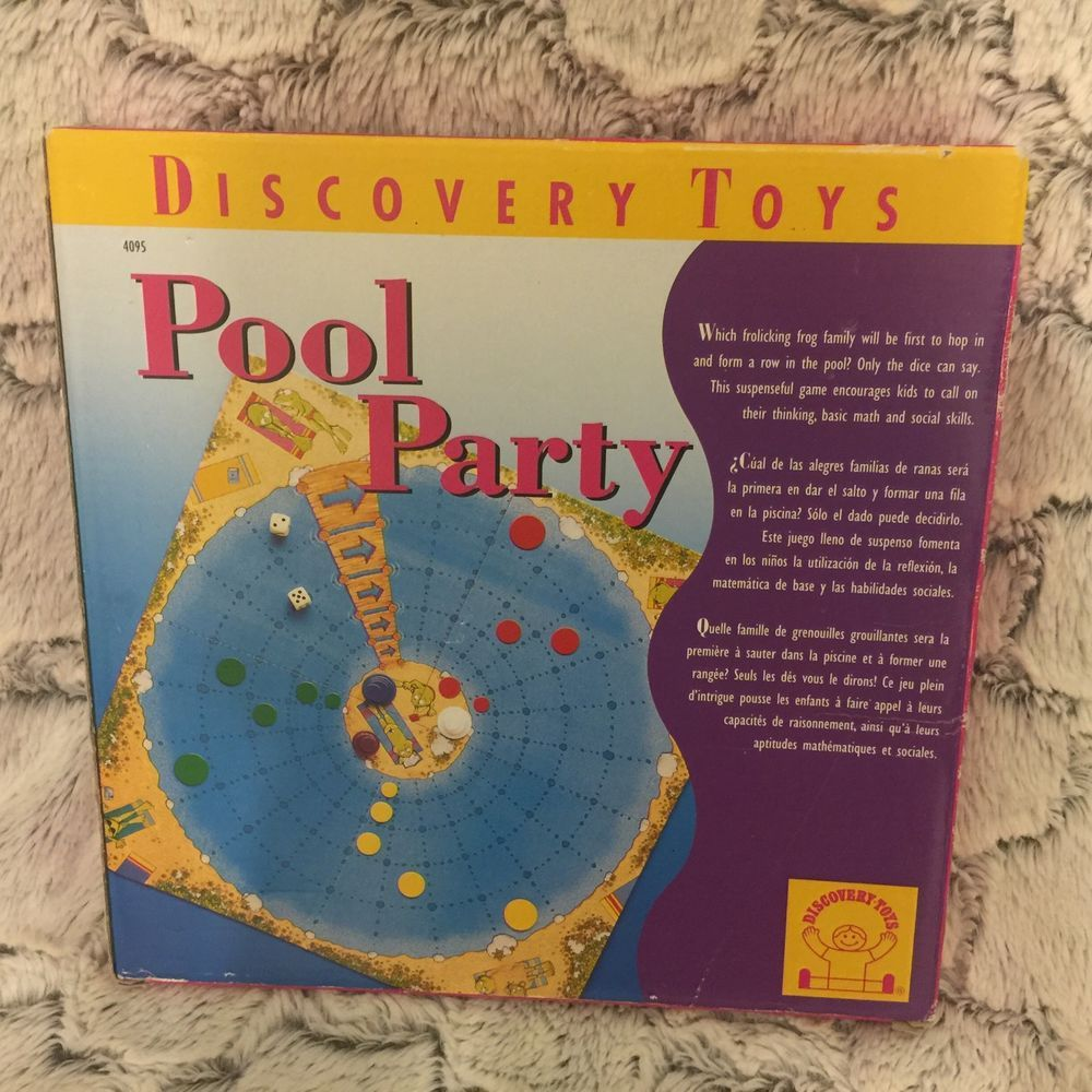Toys for kids 8 and up  Discovery Toys Pool Party   Board Game  Years  Up Educational