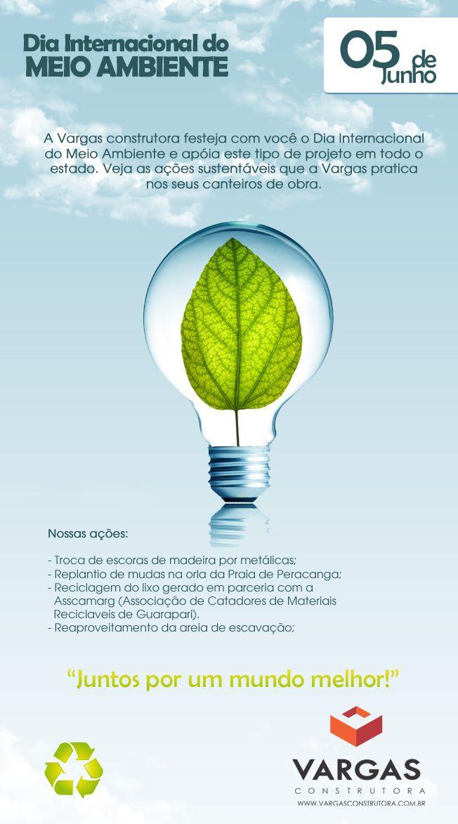 Hoje é o dia Internacional do Meio Ambiente, em comemoração apresentamos algumas de nossas ações sustentáveis.