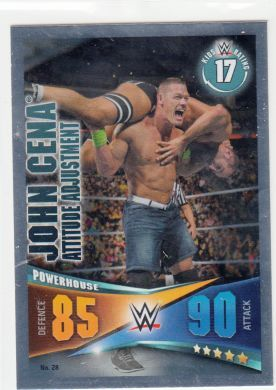 Slam Attax Rivals John Cena Signature Move Foil Attitude