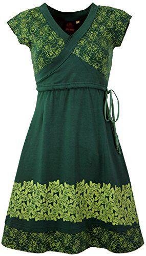 Guru-Shop Minikleid Boho Kleid Rose Bio Baumwolle Damen ...