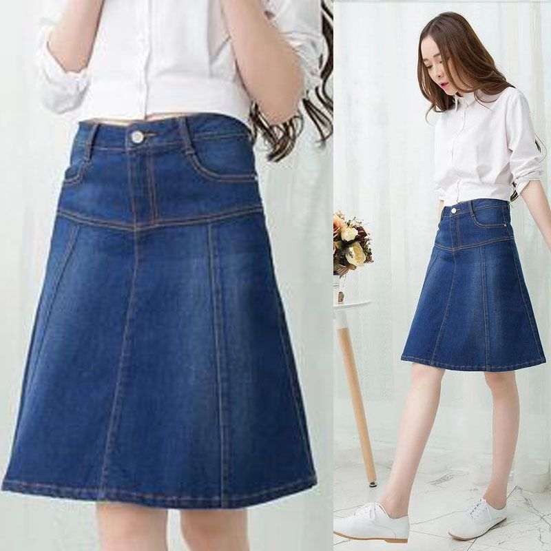 purpngreen.com knee length denim skirts (04) #skirts | Dresses ...