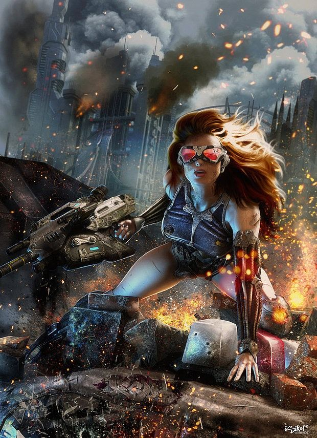 Superhero Artworks by Isidore