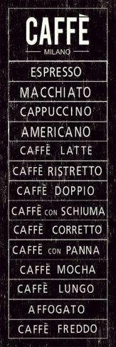 Choose your Coffee... My favorite..Macchiato.