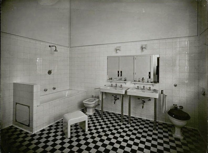 Master Bathroom History villa cavrois - mallet stevens 1932. master bathroom. | bathrooms