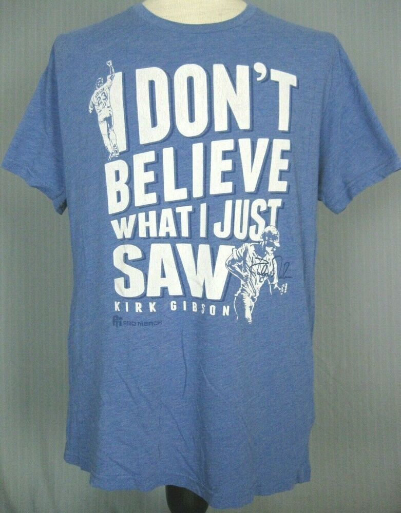 the latest b2197 9db61 LA Dodgers Adult XL Kirk Gibson T-Shirt (X-Large Los Angeles ...