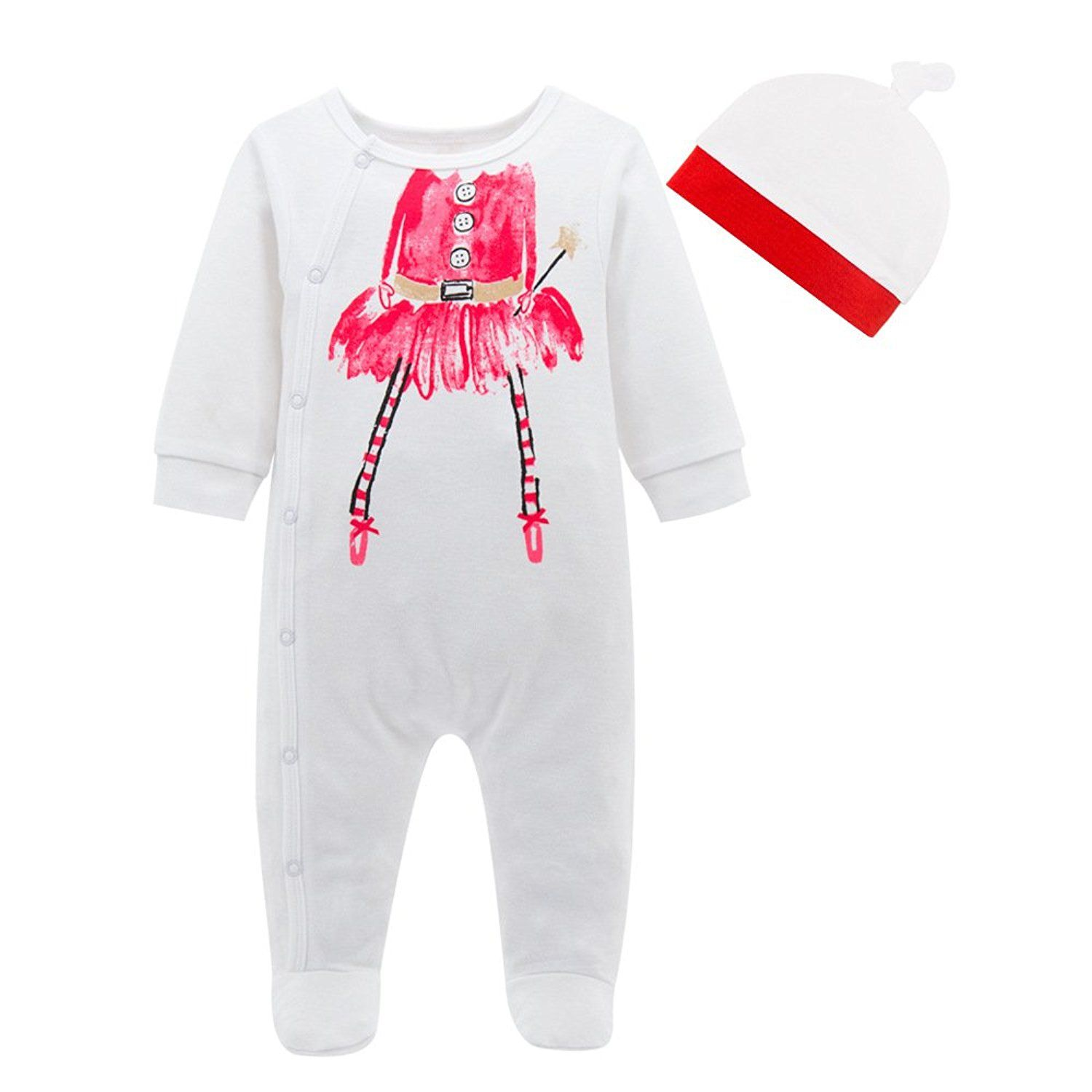 Babe Maps Uni Baby s Long Sleeve Footie Cotton
