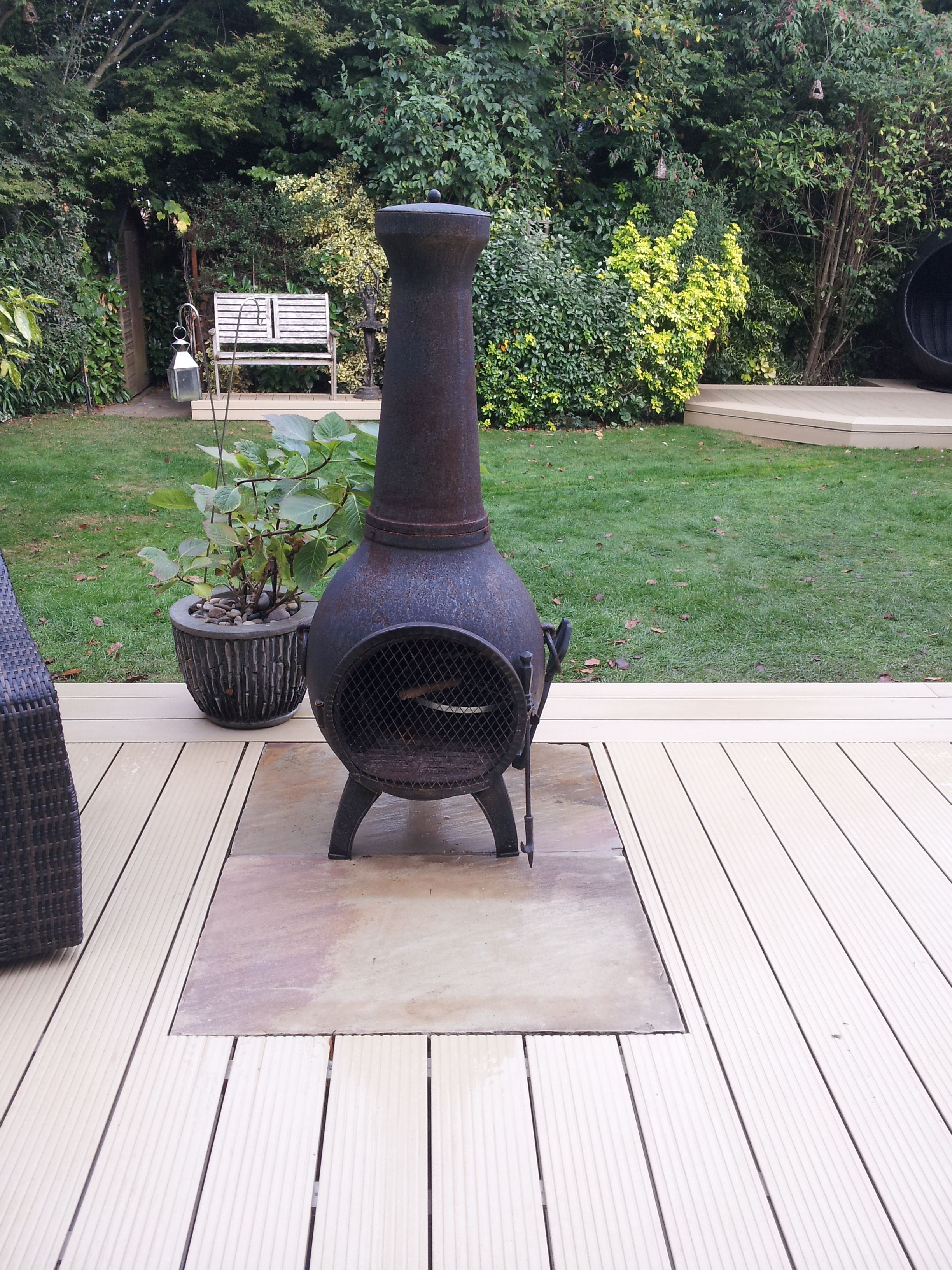Good Heatproof Sandstone Slabs Used To Create A Home For This Chiminea