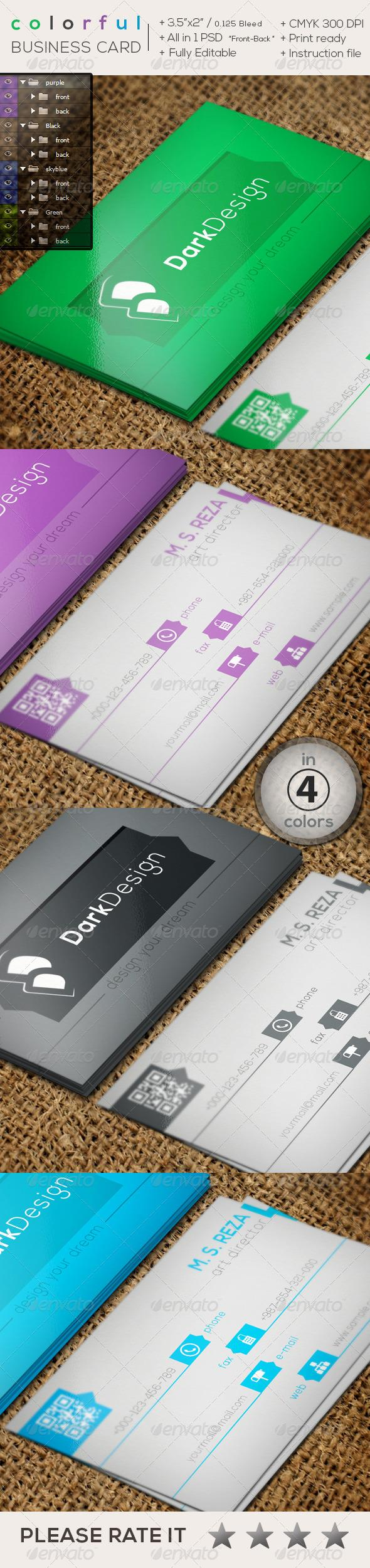 Colorful Creative Business Card Card Templates Business Cards - 35 x2 business card template