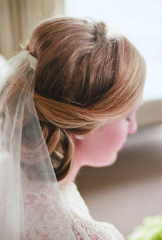 Intimate Boston Massachusetts Wedding Elegant Wedding Hair