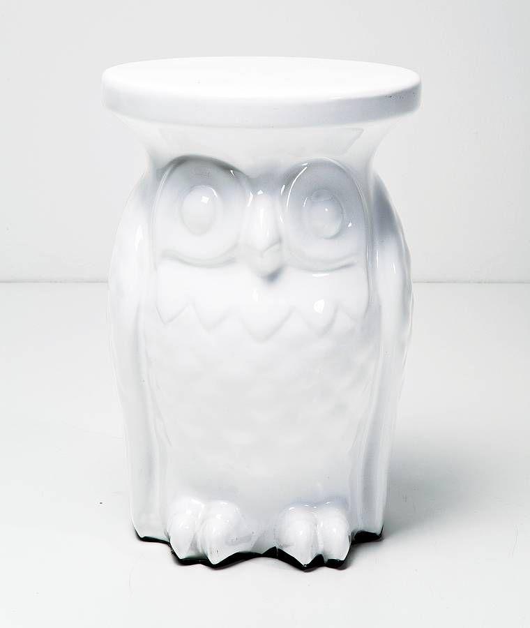 Owl Stool Unusual Furniture Quirky Decor Ceramic Stool