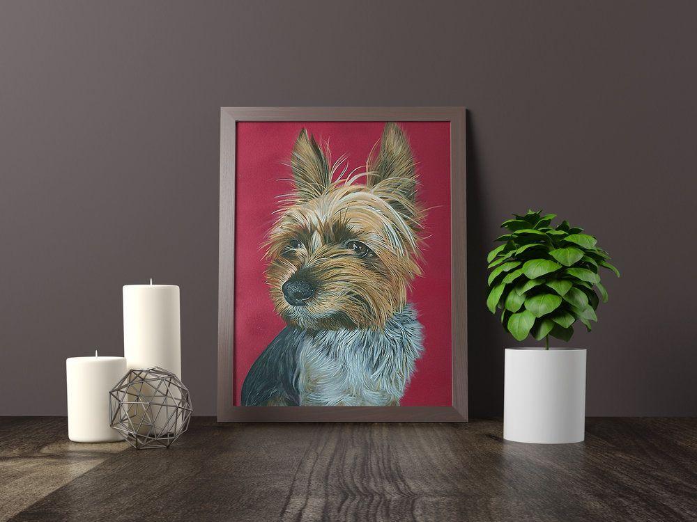 Rex The Yorkshire Terrier Pet Portrait Dog Puppy Painting Commission Art Pet Portraits Pet Pop Pet Portrait Painting