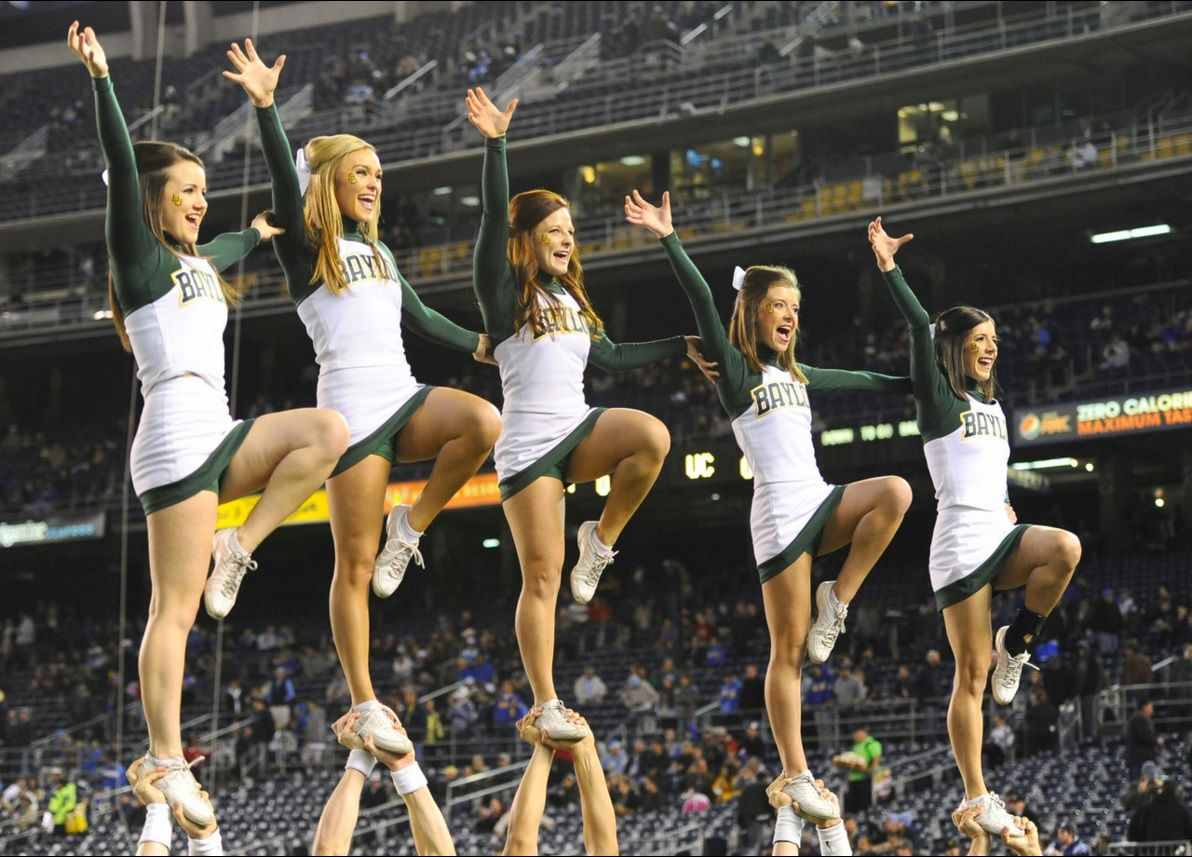 Baylor Cheerleaders Professional Cheerleaders Cheerleading Pictures Cheerleading
