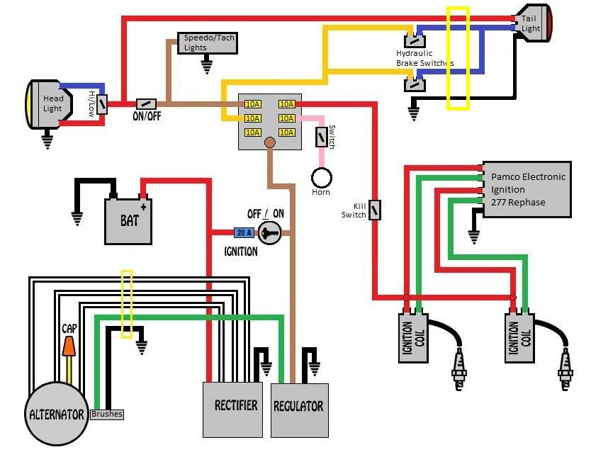 gn125 circuit - google 검색 | motorcycle / car | 검색 xs1100 chopper wiring diagram