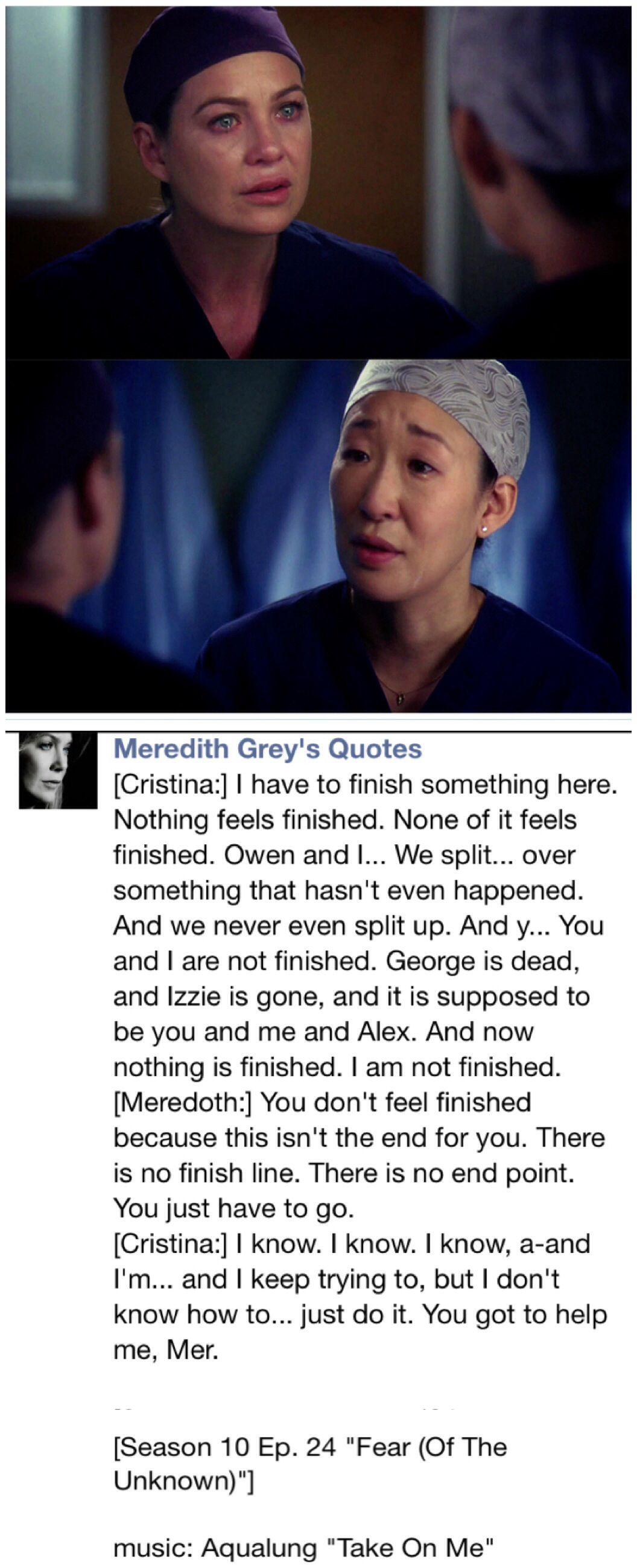 Last night Grey\'s anatomy season 10 final#farewell Cristina via ...