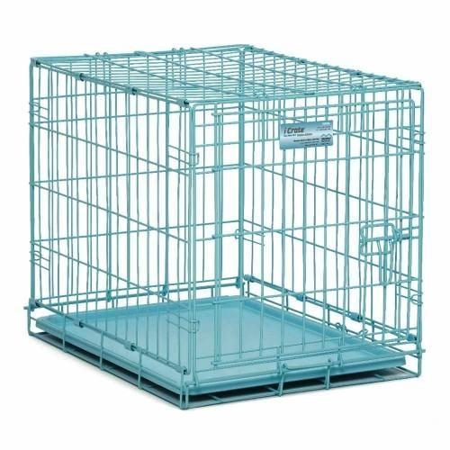 ICrate Blue Single Door Dog Crate – Bark Label