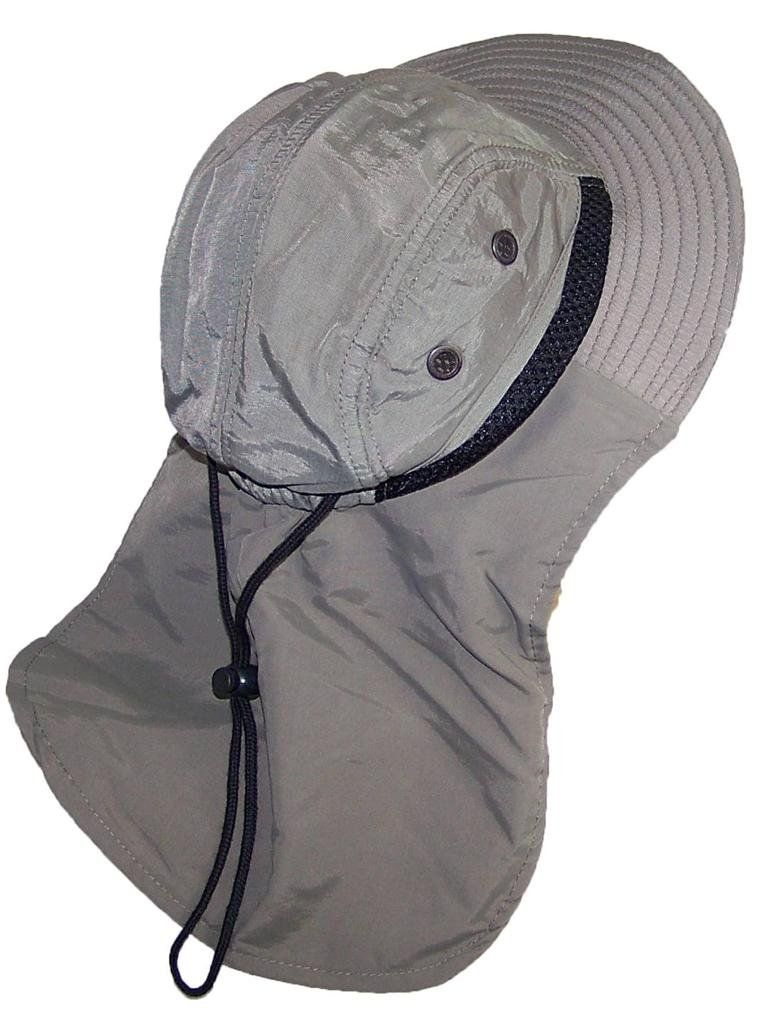 Tropic Hats Kid Child Wide Brim Mesh Summer Hat with Neck Flap (One Size) -  Olive. 90 Day Warranty. Adjustable Hat Best Fit 20.5