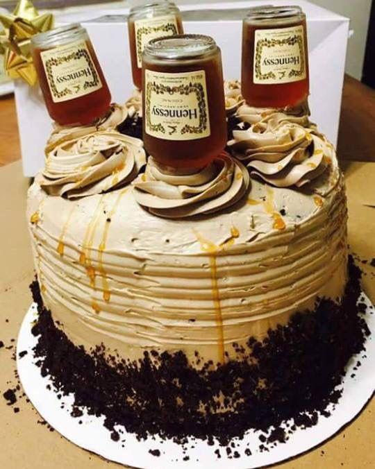 Amazing Hennessy Cake Hennessy Cake Liquor Cake Bottle Cake Funny Birthday Cards Online Alyptdamsfinfo