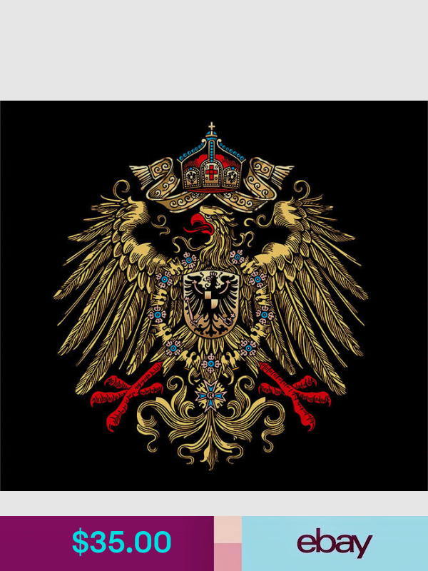 German Empire Eagle Telephone Water Slide Decal Coat Of Arms Eagle Design Heraldry