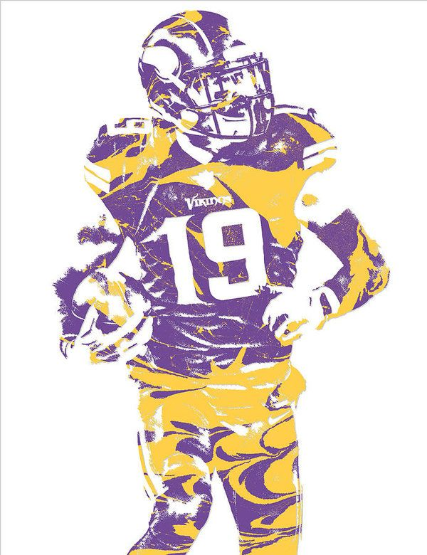 Adam Thielen Minnesota Vikings Pixel Art 2 Art Print By Joe