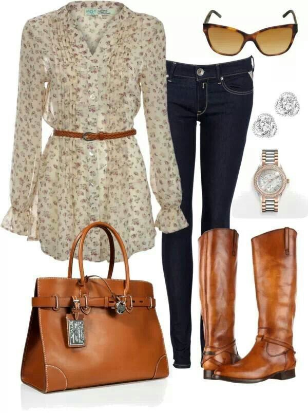 Fall outfit :) Love the bag and boots!!