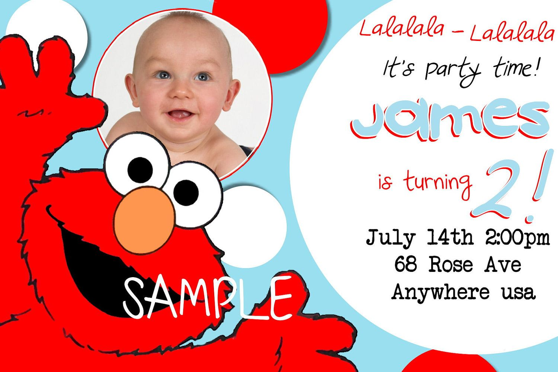 elmo birthday invitations walmart - Elmo Birthday Party Invitations