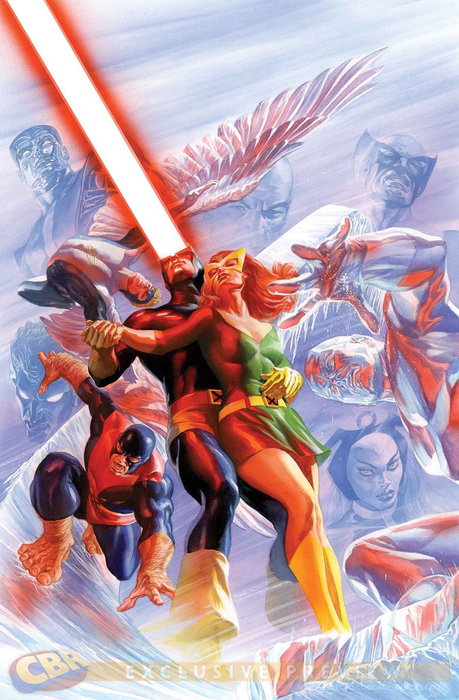 Images For Exclusive Alex Ross Goes Old School With All New X Men 27 Variant Comic Book Resources Alex Ross Marvel Art X Men