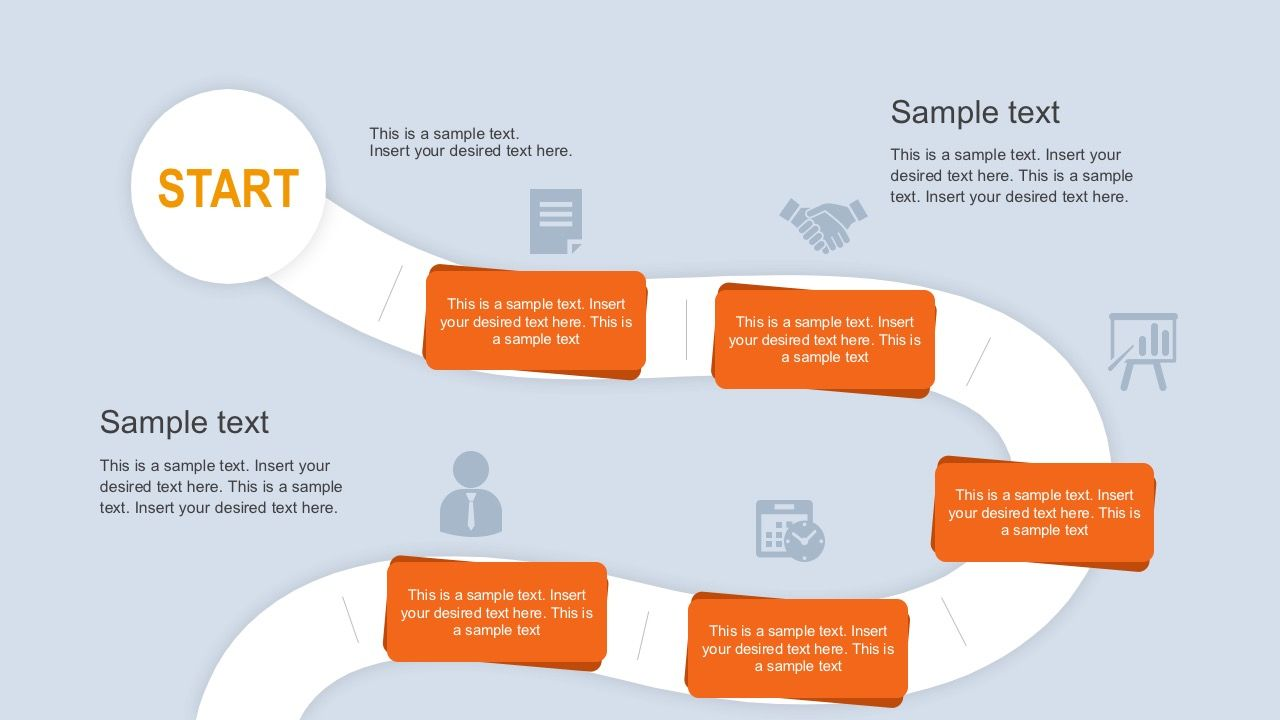 Roadmap Journey PowerPoint Template Career Development
