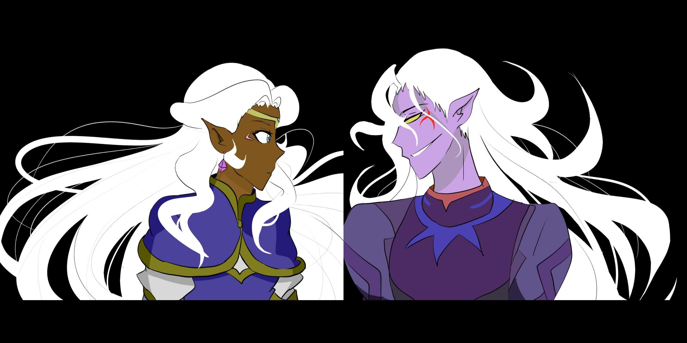 princess allura prince lotor voltron legendary defender artwork