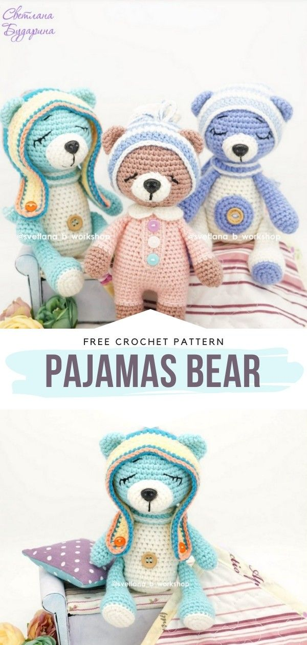 How to Crochet Pajamas Bear