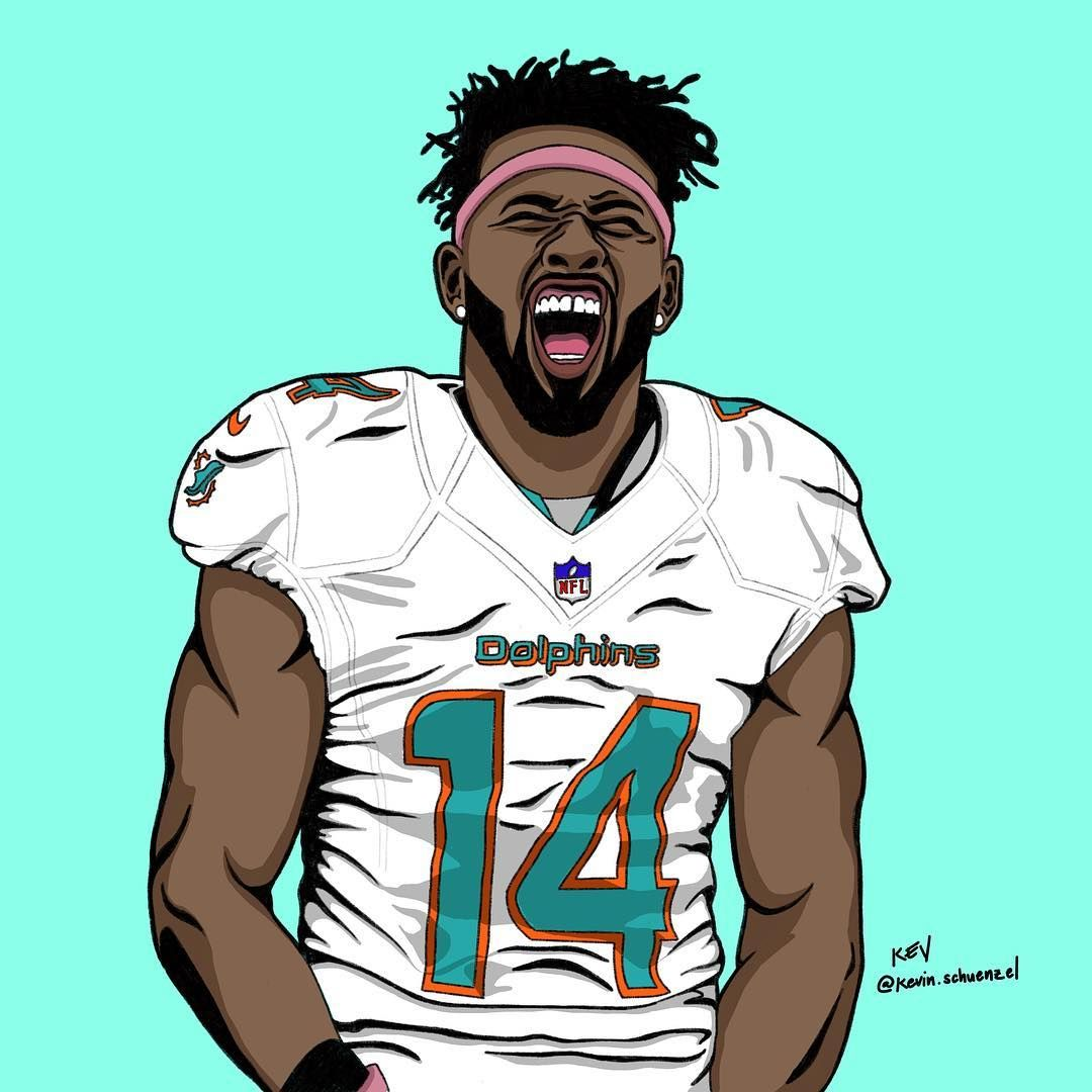 168 Likes 12 Comments Digital Artist Outsidethearc On Instagram Jarvis Landry Please Get Thi Football Wallpaper Sport Illustration Football Motivation