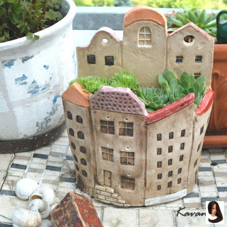 Preschool Mathematics With Number Houses New Ideas Garden Halbrundes Hou Ceramics Garden Halbrundes In 2020 Pottery Houses Slab Ceramics Ceramic Houses