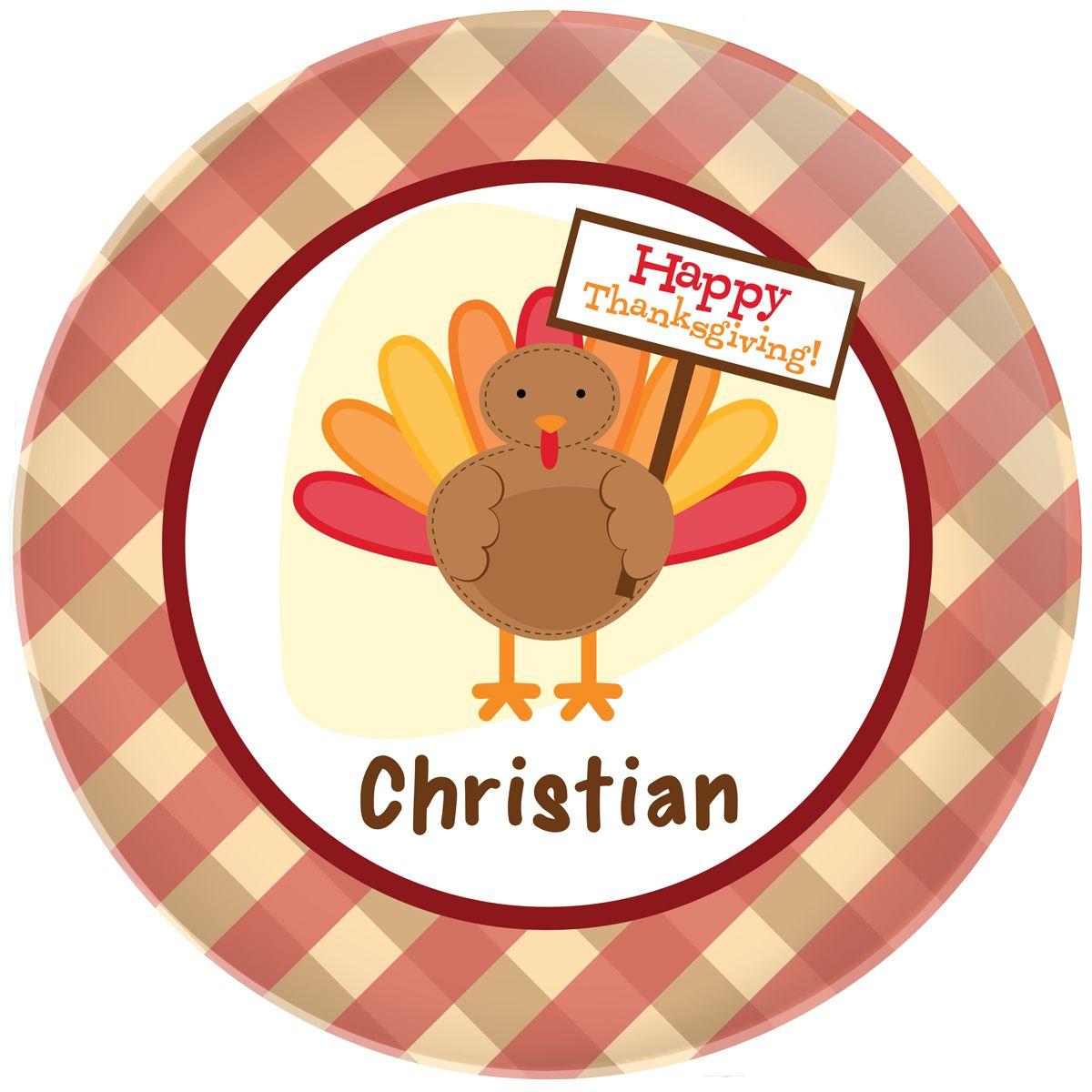 Turkey Day Plate
