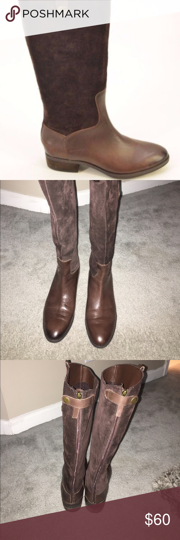 Sam Edelman 'Penny' boot. Sam Edelman 'Penny' boot. Dark brown suede upper. Size 10. Excellent condition only worn a few times. Make an offer. Sam Edelman Shoes Winter & Rain Boots