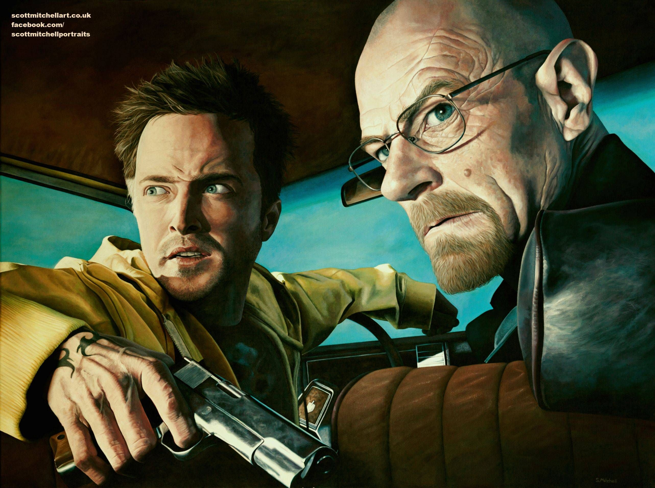 My Breaking Bad Acrylic Painting It Took Far Too Long I