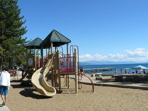 The Playground Area At Kings Beach State Recreation In Ca