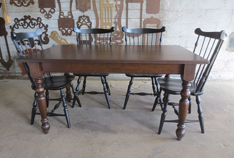 Farm Table 5 X3 With 3 1 2 Old English Leg In Cherry Dark Brown