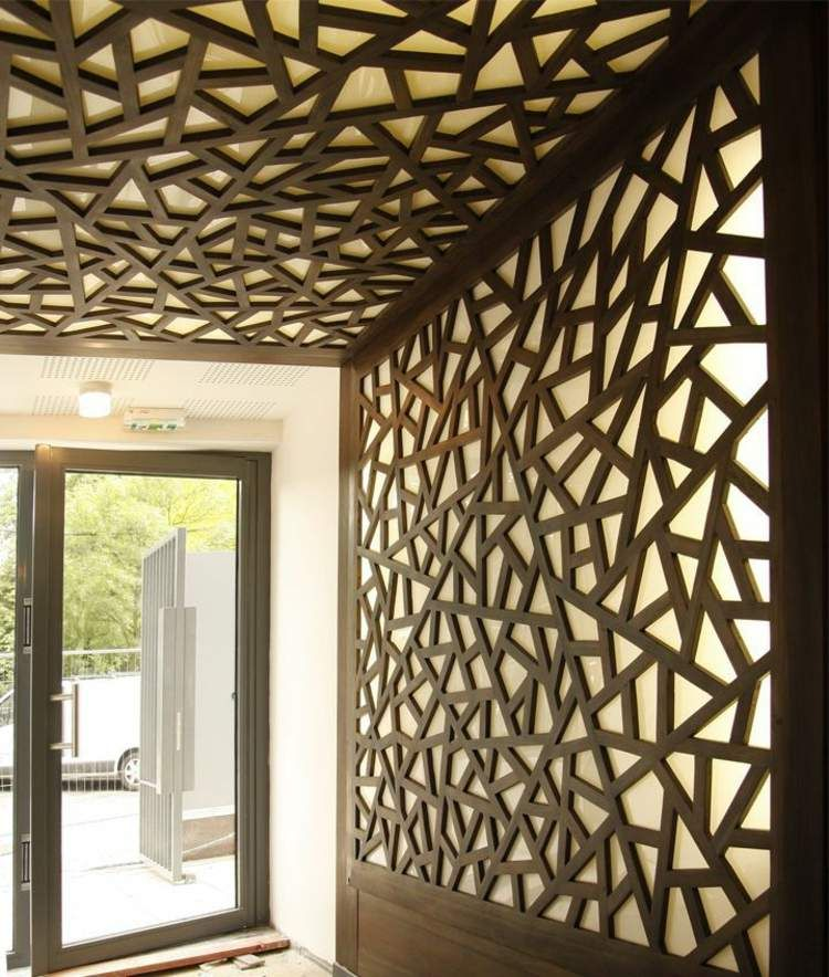 Dekorative Wandpaneele Aus Holz Unsymmetrisch