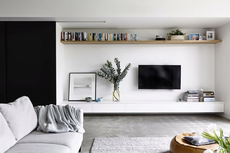 Long Shelf Across Top Of Wall Modern Apartment Living Room Rustic Farmhouse Living Room Living Room Scandinavian