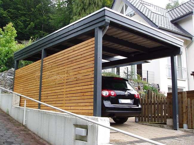 Gro 223 Fotos Carport Modell Bremen Mit Seitlichem Kragdach
