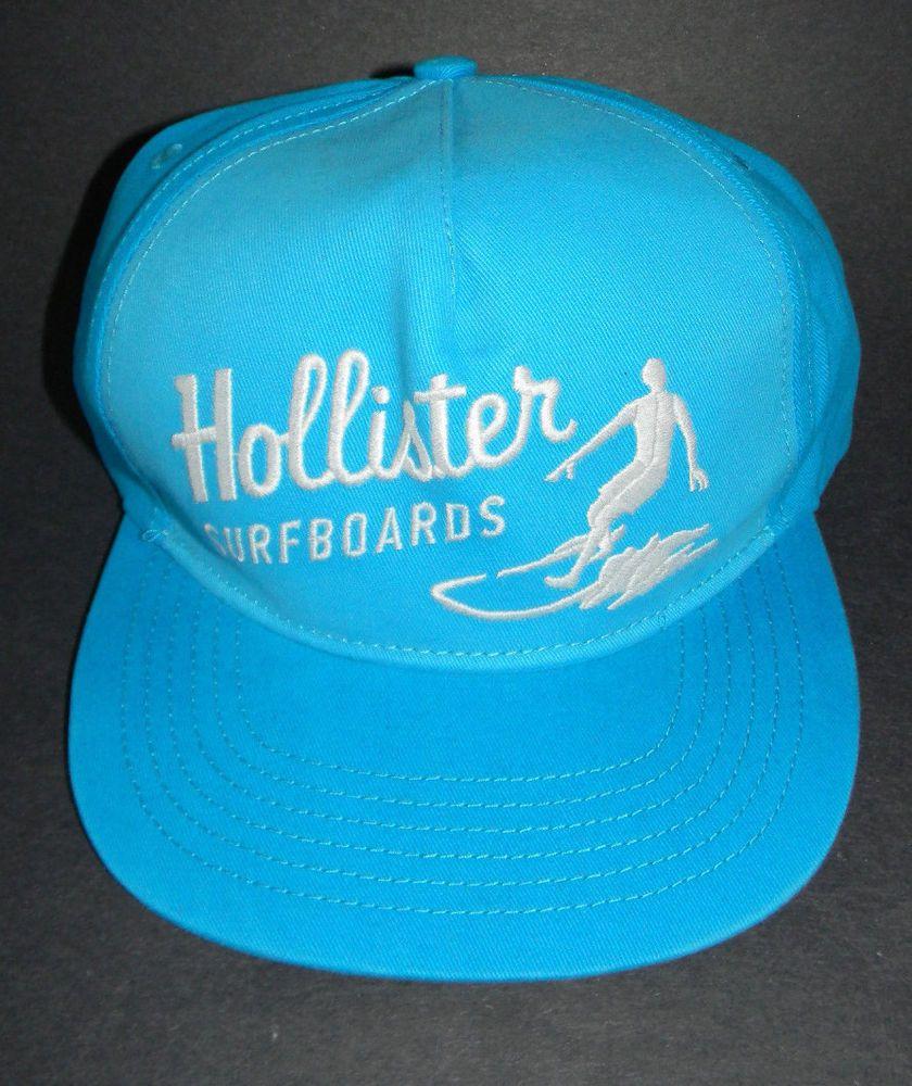 9d8bdf7dffe10 MENS HOLLISTER SURFBOARDS TURQUOISE HAT ADJUSTABLE CAP ONE SIZE  Hollister   BaseballCap