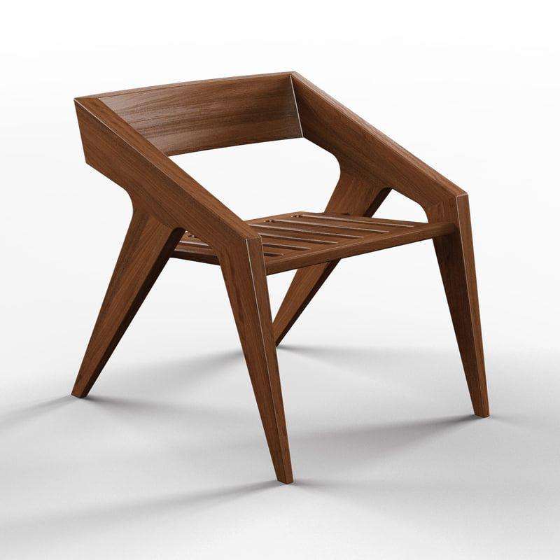 3d Hank Chair Jory Brigham Wood Chair Design Chair Wooden Sofa Designs