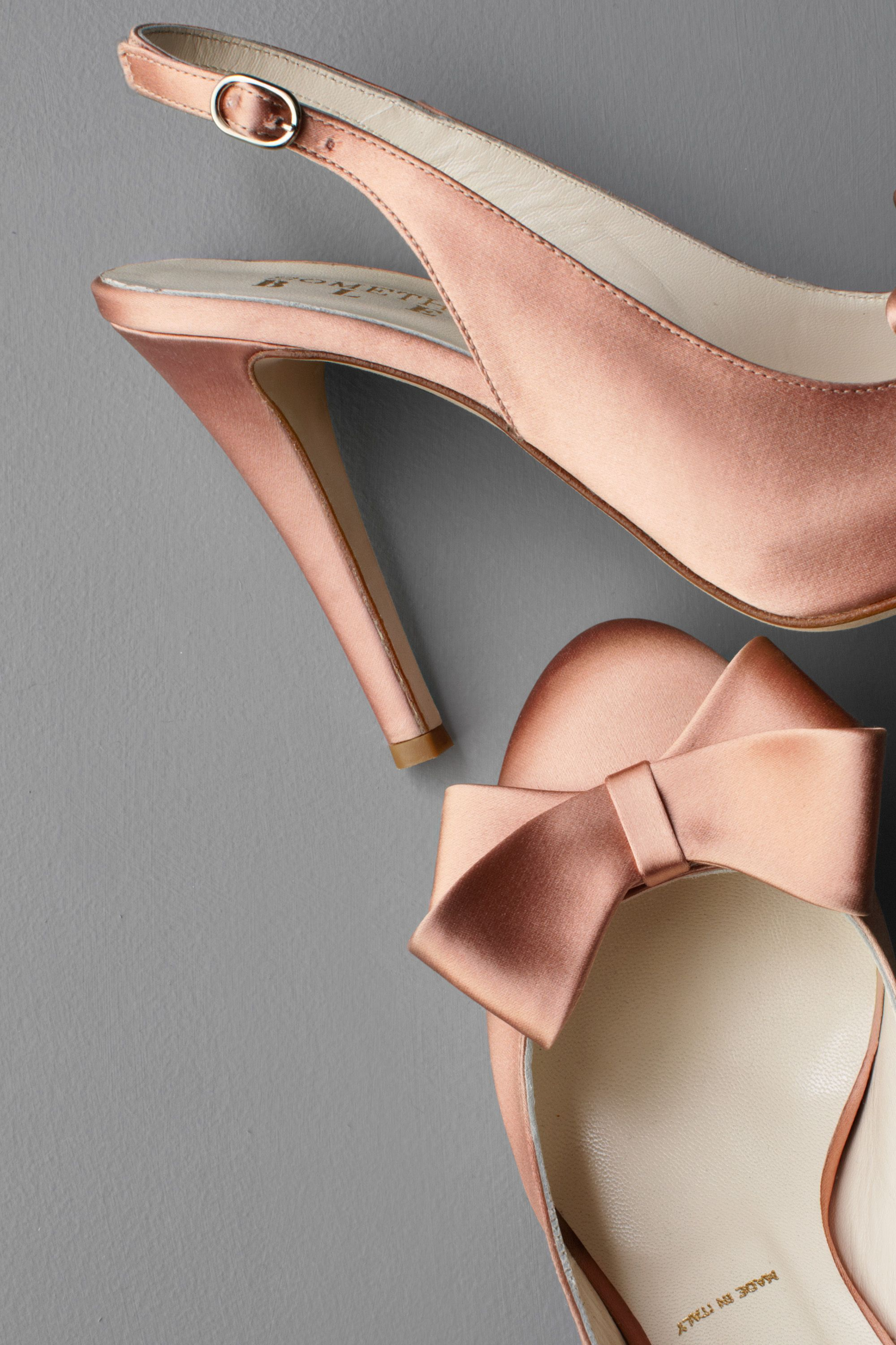 Nudelook Satin Shoes Rose Bow Zalando Shoes Pinterest