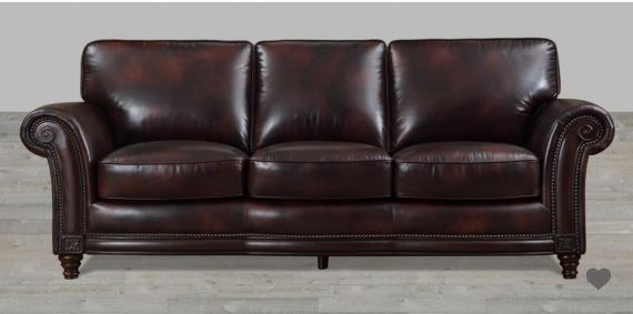 100 Full Grain Leather Sofa With Nailheads Leather Sofas